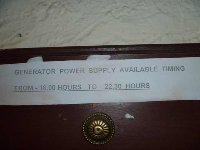 Notice of Power Supply Timings