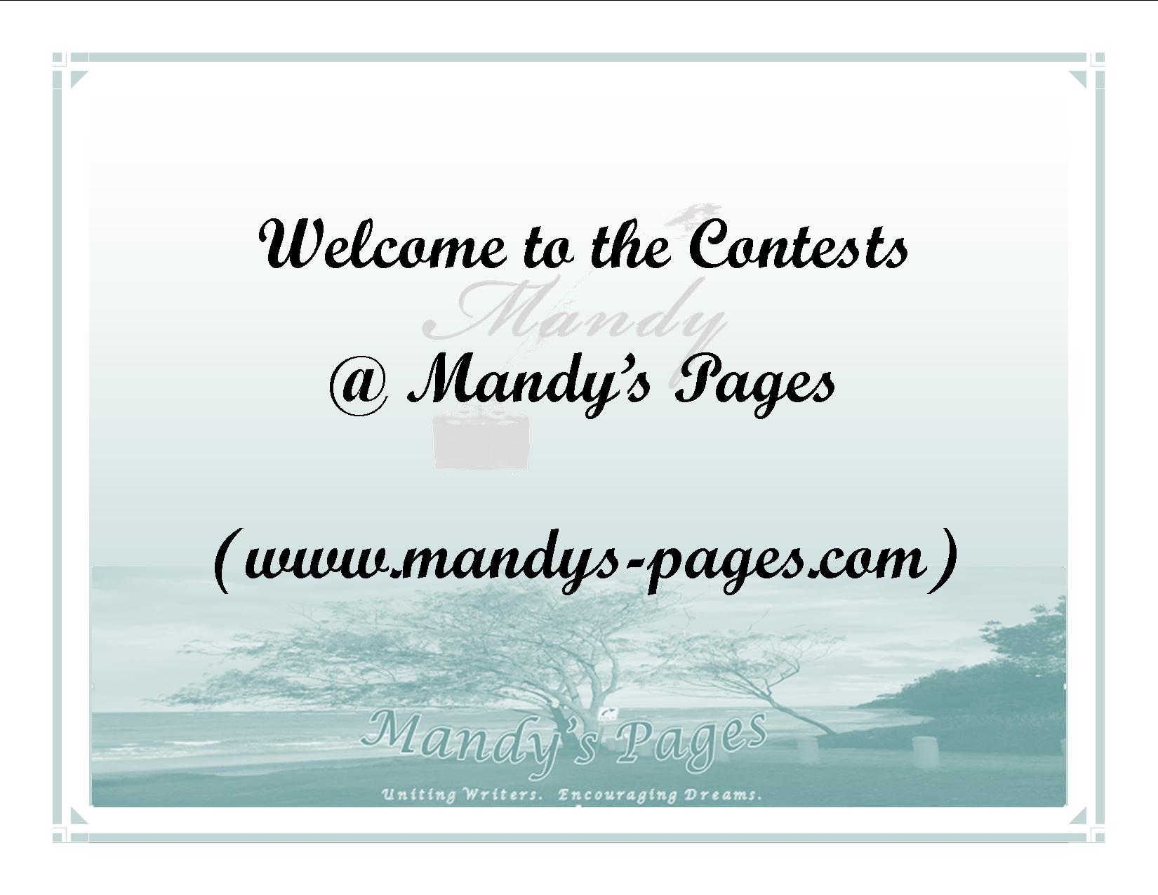 Contests at Mandy's Pages