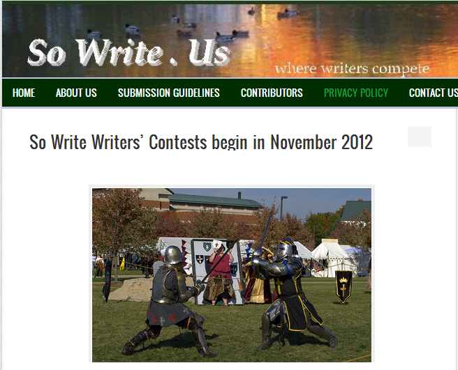 So Write. Us - Contests